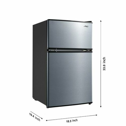Arctic King 3.2 Cu ft Two Door Compact Refrigerator with Freezer, E-star