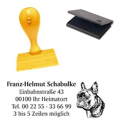 Adressenstempel « FRENCH BULLDOG 1 » mit Kissen - Hundeschule Foxterrier