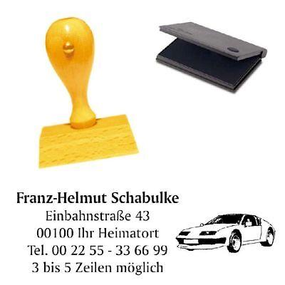 Adressenstempel « AUTO 3 » mit Kissen - Firmenstempel - KFZ