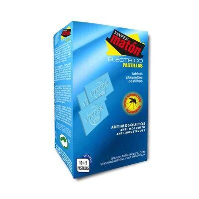 VINFERMATÓN ELÉCTRICO: Recambio 15 pastillas. Insecticida anti - mosquitos.