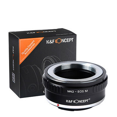 K&F Concept Lens Adapter Ring for M42 Screw Mount Lens to Canon EOS M (Lens Mount Adapter Ring)