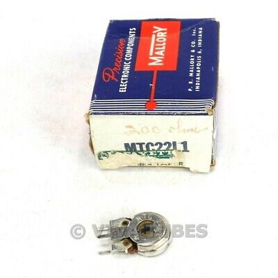 Nos Nib Vintage Mallory Model Mtc22l1 Shaftless Potentiometer 200 Ohm