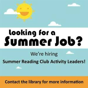 Summer Job Opening - East Branch Library