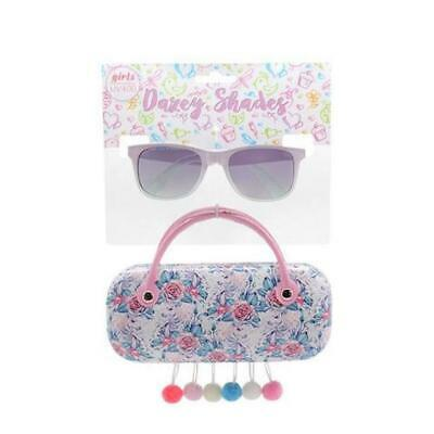 FLOWER UNICORN  Dazey Shades tween Fashion Sunglasses with Case girls kids (Tween Sunglasses)