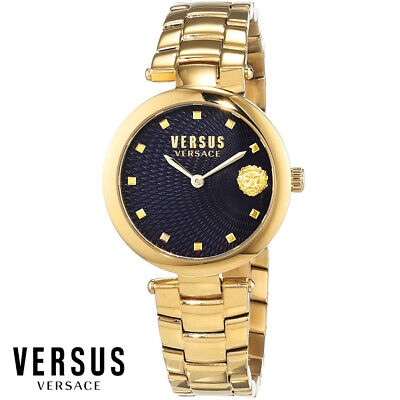 Versus by Versace VSP870718 Buffle Bay blue gold Steel Women's Watch NEW