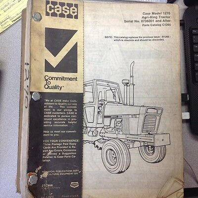 Case 1270 Agri-king Tractor Parts Catalog