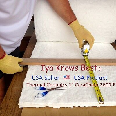 Ceramic Fiber Insulation Blanket Wool Cerachem 2600f Thermal Ceramics 1x20x24