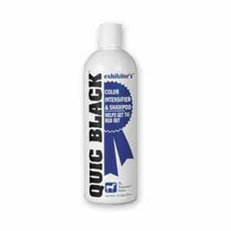 Quic Black Color Intensifier Shampoo 16 oz Reduces Red Horse Restores Color