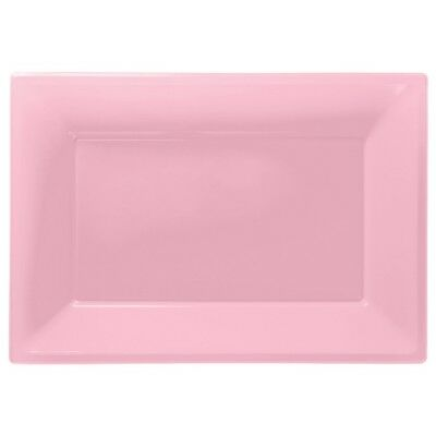 Pink Plastic Serving Platters | Tray Party Buffet Food Celebration BBQ Wedding  - Plastic Party Platters