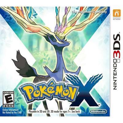 Nintendo 3DS Pokemon X EMPTY CASE NO GAME w / insert (05-02)
