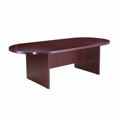 Boss Office Products 95w X 43d Race Track Conference Table Mahogany