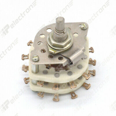 3p6n 3-position 6-pole Ceramic Rotary Switch 3a 350v