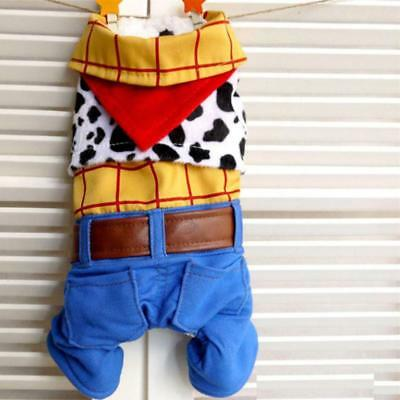 Haustier Hund Katze Cowboy Woody Toy Story Kostüm Outfit Halloween Kleidung - Woody Toy Story Kostüm Hunde