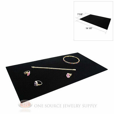 1 Black Plush Soft Velvet Jewelry Display Counter Display Pad Padded
