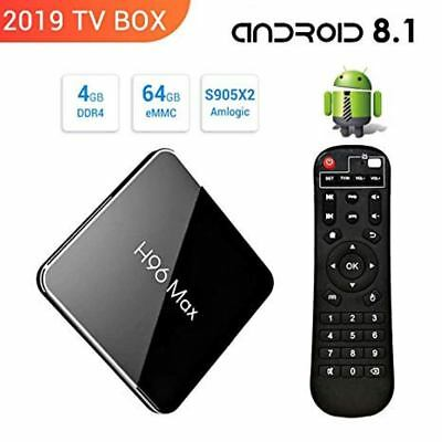 Box Android H96 Max 4GB 64GB S905 x2 BT Dual WiFi 4K FHD USB 3.0 HDMI Oreo 8.1