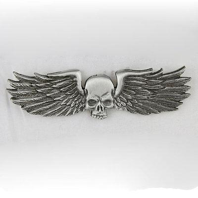 Biker Chopper Skull Metal Wings Skullwing Totenkopf Pin Anstecker Anstecknadel