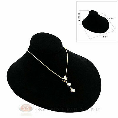 Black Velvet Lay-down Pendant Necklace Neckform Jewelry Bust 4 34w X 4 58d