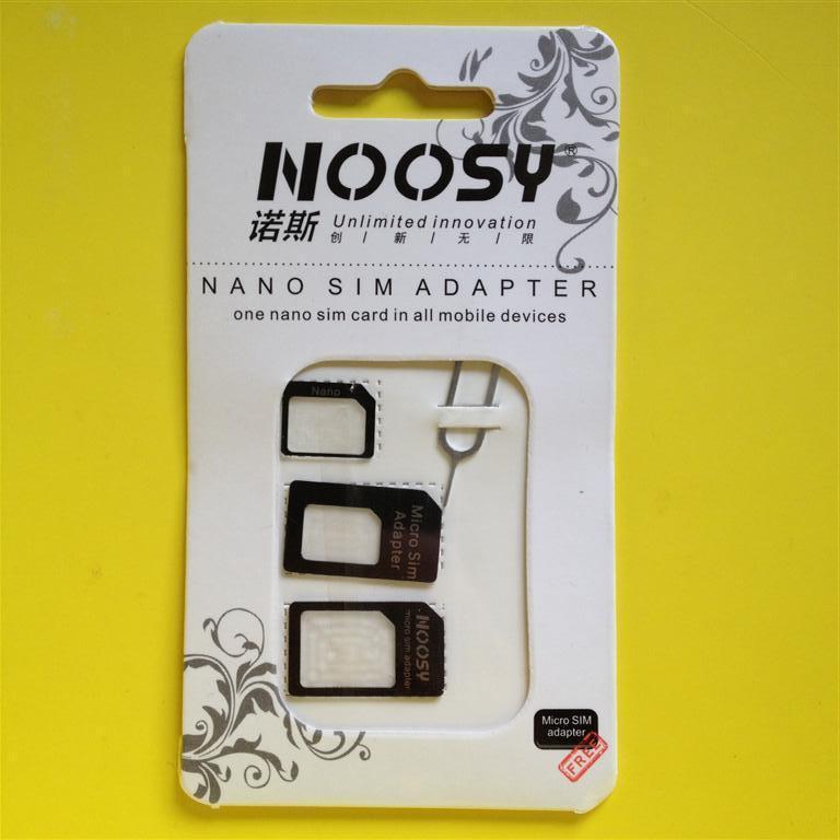 BLACK iPhone/iPad NANO MICRO MINI SIM Card Adapter Converter Standard Adaptor