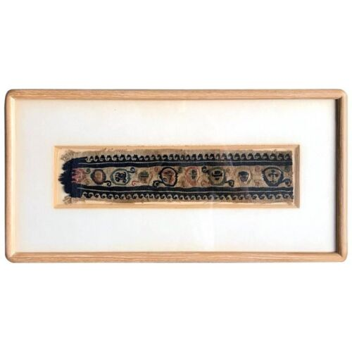 Framed Antique Coptic Textile