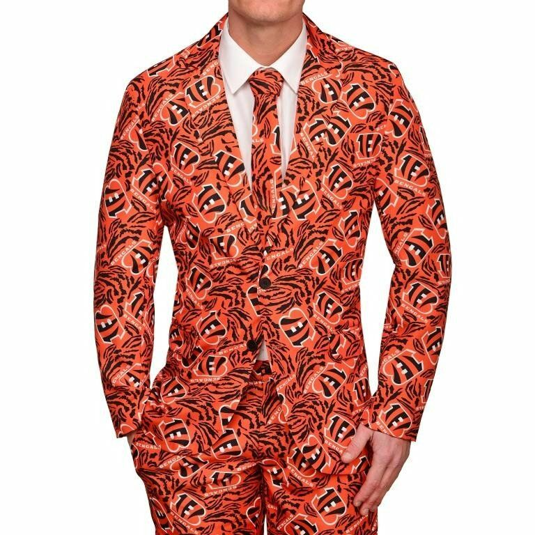 NFL Football Team Logo Repeat Print Business Suit - Pick Your Team!