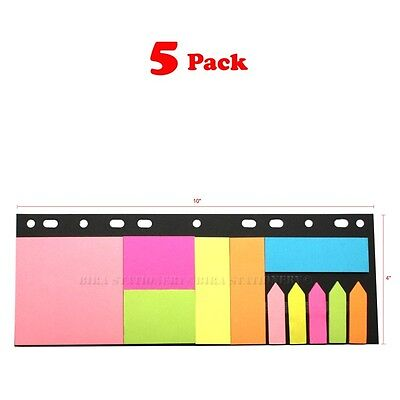 Super Sticky Notes Sticker Post It Notepads Flags For Office Home School 5-pack