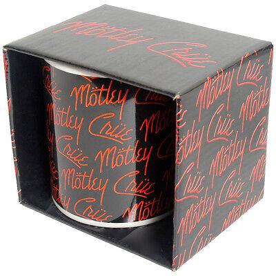 """MOTLEY CRUE """"LOGO"""" coffee mug 12 oz Ceramic NEW"""