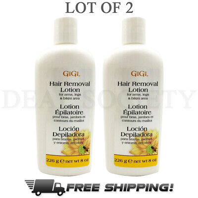 GiGi Hair Removal Lotion for Arms, Legs & Bikini 8 oz Each - Lot of (Best Hair Removal Lotion)