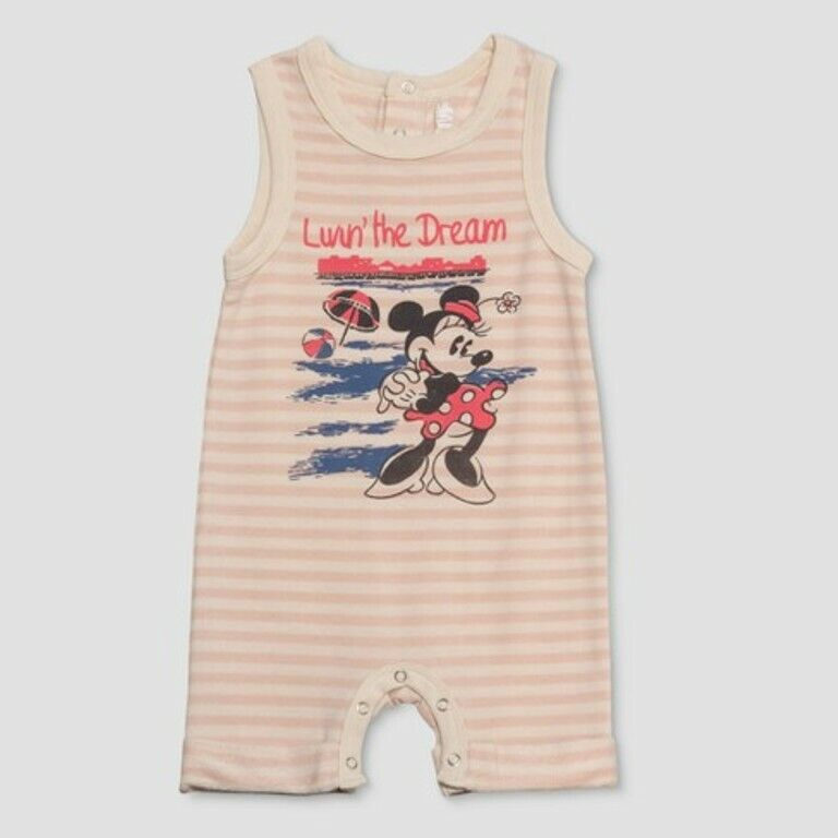 disney junk food baby girls striped bodysuit