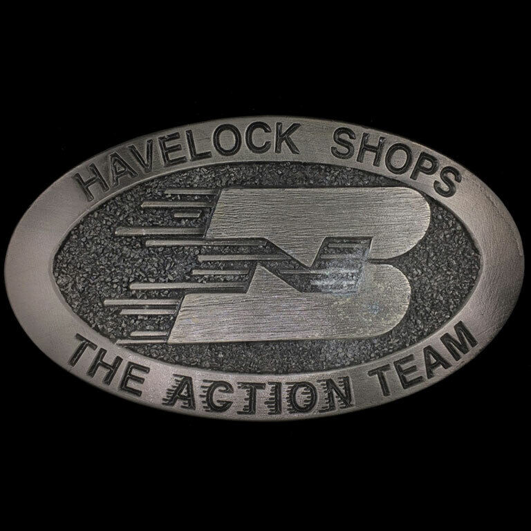 Vtg NOS BNSF Havelock Shops Nebraska Burlington Northern Railroad Belt Buckle