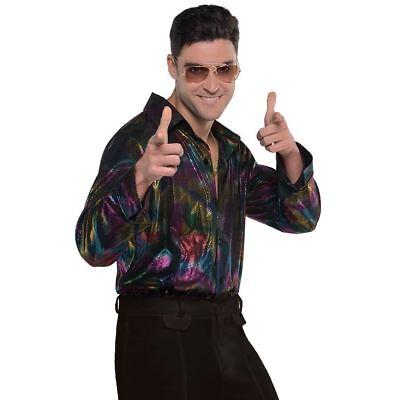 Erwachsene Herren Hippy Psychedelische 70s Jahre Disco Fever Hemd (70's Disco Fever Kostüme)