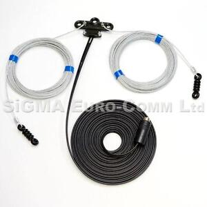 G5RV Full Size 102 Feet 10 to 80 Meters Superior Poly Weave Wire Antenna/Aerial