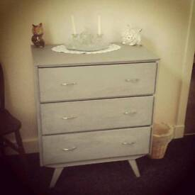 1950's shabby chic chest of drawers
