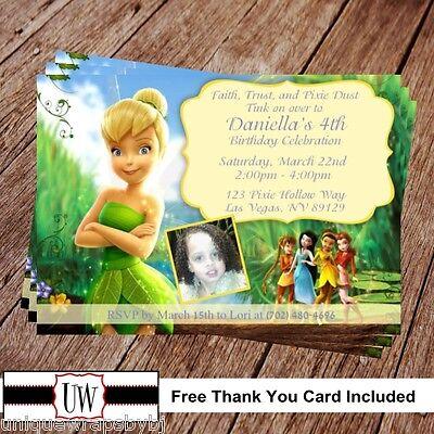 Tinkerbell & Fairies Birthday Invitation, Disney Party Printable invitations](Tinkerbell Party Invitations)