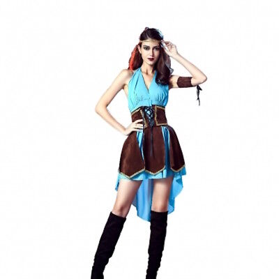 REDUCED Quality Xena Roman Greek Celtic Warrior Costume Fancy Dress Size - Celtic Warrior Dress