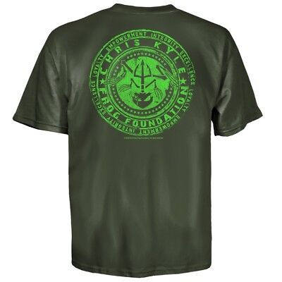 Chris Kyle Mens Green Frog Foundation T Shirt L   3Xl New American Sniper