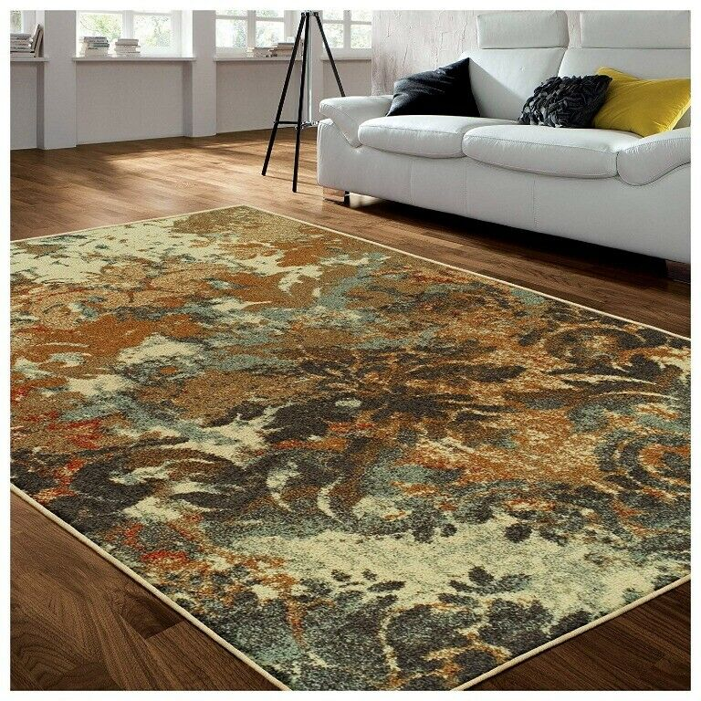 Superior Roslyn Floral Pattern 8'x10' Area Rug 6mm High Jute