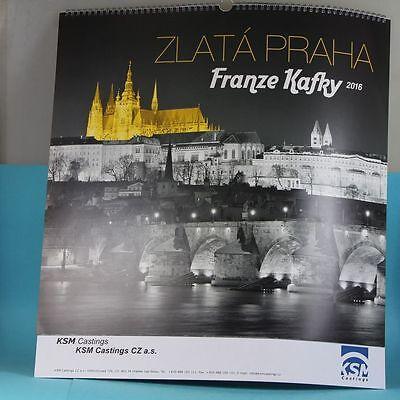 Franze Kafky Calendar 2016 - Various Views From Prague - Spiral Calendar 46x48