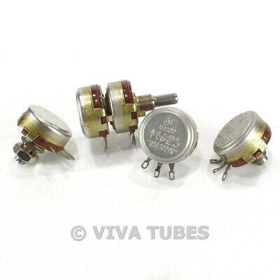 Vintage Lot Of 4 Allen-bradley Type J Potentiometers 0.5 Meg Ohm 500k