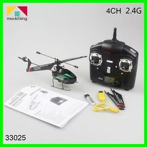 HELICOPTERO-MOULD-KING-2-4GHz-RC-4-CH-LCD-GYRO-2-ASPAS-para-INTERIOR-EXTERIOR