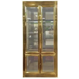 Brass Vitrine Display Cabinet pour connaisseur