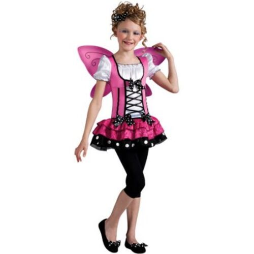 Pink Butterfly Girls Dress Halloween Costume Size L (10-12)