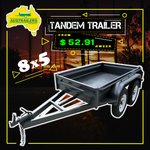 8x5 Australian Made Tandem Box Trailers - BUY NOW PAY LATER!
