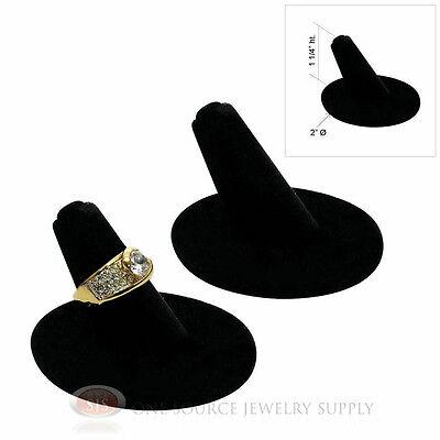2 Ring Displays Single Finger Black Velvet Ring Holder Jewelry Presentation