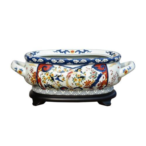 Beautiful Chinese Imari Porcelain Foot Bath Basin Pot