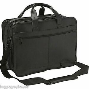 NEW PRICE:  Samsonite Leather Expandable Briefcase (Black)