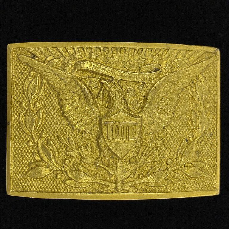 Tote Totem Of The Eagle Order Red Men Iorm Rare Civil War Vintage Belt Buckle