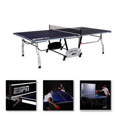 Ping Pong Table Tennis Table Metal ESPN Original 4 Piece Indoor Folding Movable, used for sale  USA