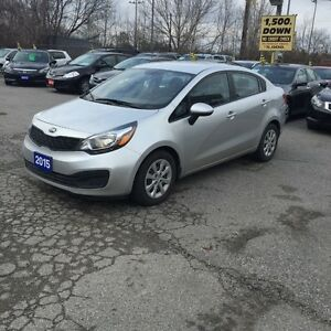 2015 Kia Rio PRE-OWNED CERTIFIED 100%  APPROVED