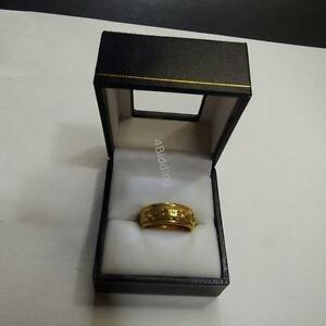 Ladies Gold Plated Wedding Band w/ Rotating Centre