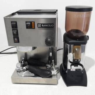 coffee machine  and coffee grinder